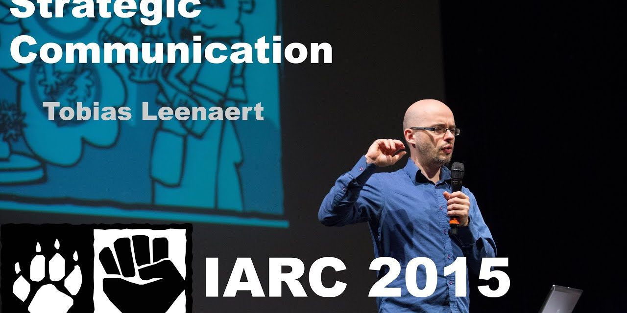 """Strategic communication in order to veganize the world – Tobias Leenaert"""